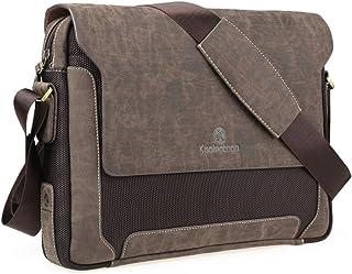 60e353c26dc95 Koolertron Mens Leather Shoulder Bag Handbags Briefcase for the Office  Messenger Bag to Hold Books,