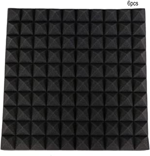 AUNMAS Pyramid Shape Sound-Absorbing Soundproofing Cotton Foam for Recording Studio Equipment (Black)
