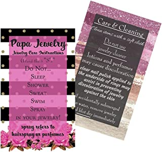 """Jewelry Cleaning and Care Instruction Cards 