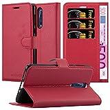 Cadorabo Coque pour Nokia 8 en Rouge Cerise - Housse Protection avec Fermoire Magnétique, Stand...