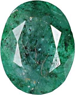 GEMHUB Esmeralda certificada natural de 3,35 quilates, color verde certificado, forma ovalada, piedra preciosa suelta para...