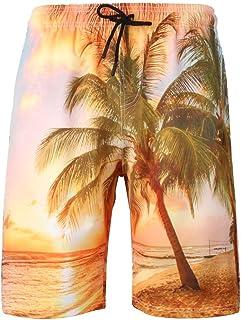 d5bc3c2920 Trunks Men's Swim Ildlor Beachwear Quick Dry Hawaiian Printed Fashion 3D  Shorts Recreational Sports Beach Pants