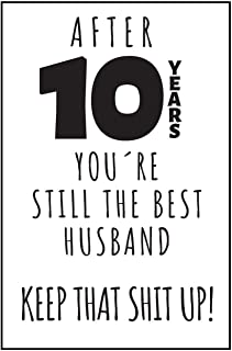 10th Anniversary Journal: 10 Year Anniversary Gifts For Him - Blank Notebook