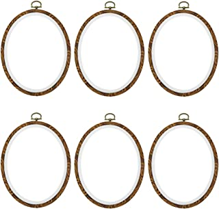 """Oval Embroidery Hoop Karcy DIY Punch Needle Starter Kit Embroidery Hoops Cross Stitch Hoop Oval 7.4x6.02""""(LxW) Circle Embr..."""
