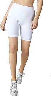 Nikibiki Womens Seamless Ribbed Biker Shorts One Size
