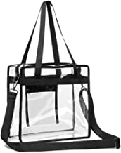 Clear Tote Bag, iSPECLE Clear Bag Stadium Approved Adjustable Shoulder Strap