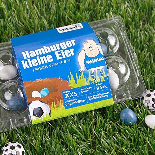 Hamburger Kleine Eier Oster-Überraschung gemein leckere Schokoeier frisch vom Platz, zum Ärgern von HSV-Fans| Süßigkeiten Schokonüsse Dragees