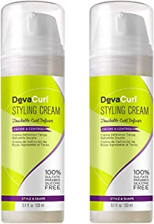 DevaCurl Styling Cream; Define and Control; Touchable Hold, 5.1 Fl Oz (Pack of 2)