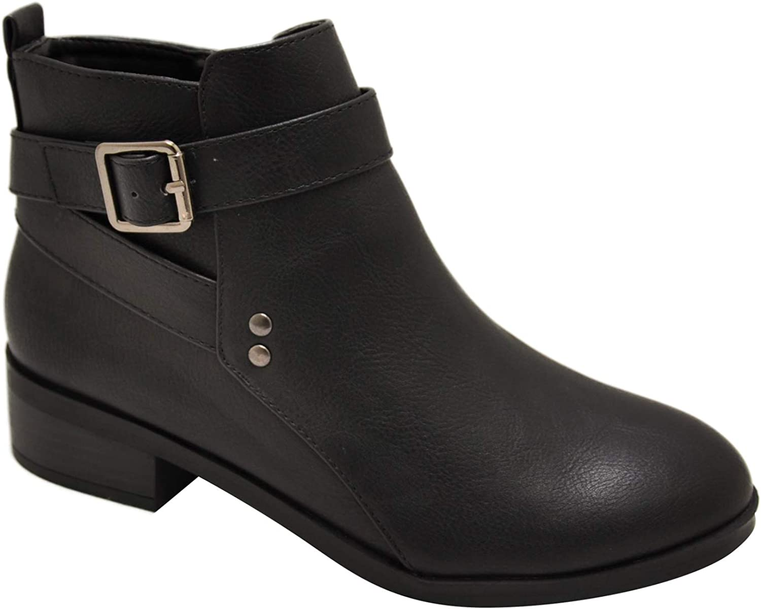 City Classified Catch-S Women's Buckle Strap Ankle Booties