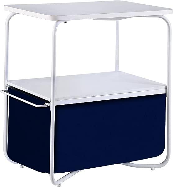 1208S 3 层口音端桌沙发边桌带储物抽屉卧室客厅小空间白色深蓝色