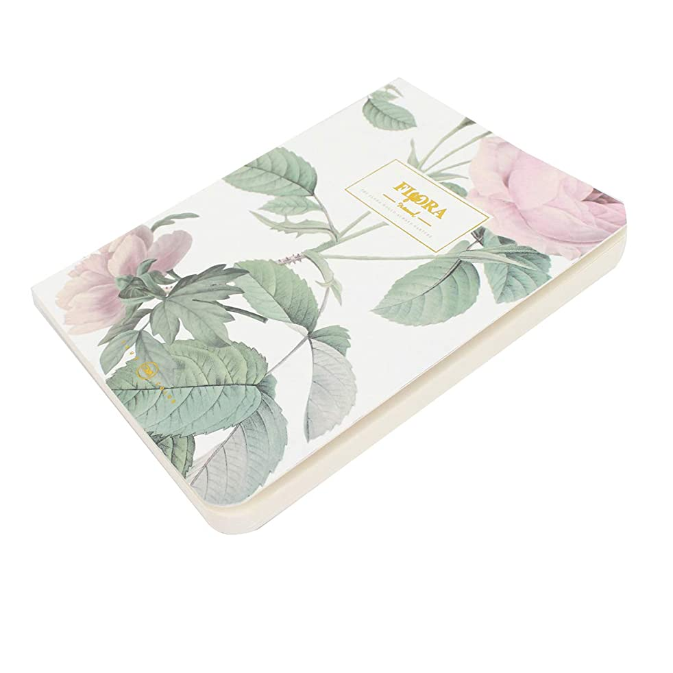 Van Caro Feminine Floral Sketch Book Notebook with Blank Paper, 160 Pages, Color 2