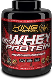 100% Whey Protein 2,27 kg King Nutrition Proteina Concetrada 80% Chocolate Avellanas