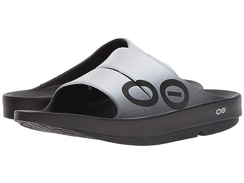 OOahh Black BrownFlameGrayNavy BlackBlack SteelSmokeWave OOFOS Sandal Sport Bqnwg