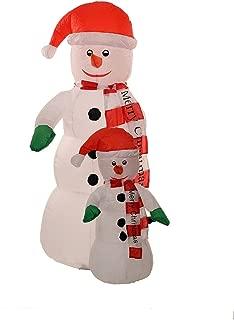 Big 5 Foot Self Inflating Illuminated 2 Snowman Yard Decoration Blow up Inflatable