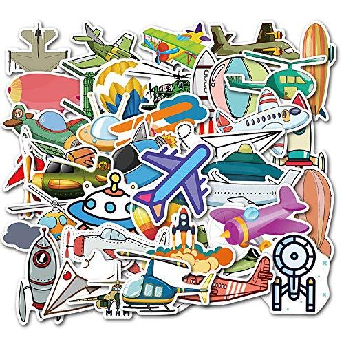 XZZ Cartoon Flugzeug Ballon Flugzeug Rakete Fliegende Untertasse Aufkleber Notebook Skateboard Aufkleber 50Pcs