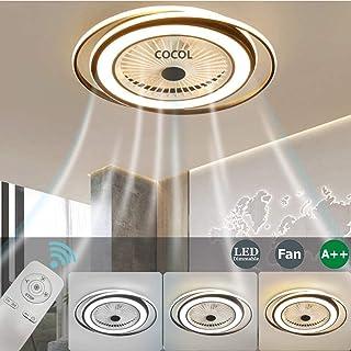Ventilador De Techo LED Con Iluminación Luz De Techo Del Dormitorio Luz Invisible Del Ventilador Control Remoto Lámpara De Techo Silenciosa Control Remoto De La Velocidad Del Viento De La Lámpara