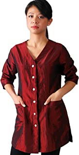 JMT Beauty 3/4 Sleeve Burgundy Salon Smock (M (8))