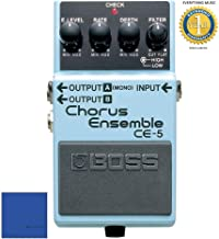 Boss CE-5 Stereo Chorus Ensemble Pedal with 1 Year Free Extended Warranty