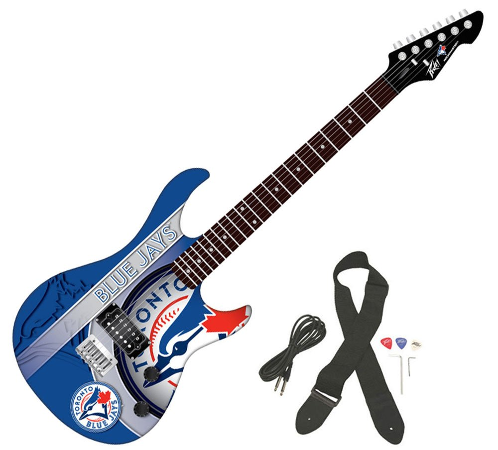 Cheap Peavey MLB Baseball Toronto Blue Jays Rockmaster Full Size Electric Guitar New Black Friday & Cyber Monday 2019