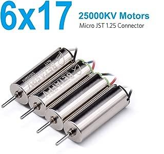 BETAFPV 4pcs 6x17mm Motor 25000KV Brushed Motors 2CW 2CCW for Micro FPV Tiny Whoop Beta65 Blade Inductrix Nano QX Quadcopter etc
