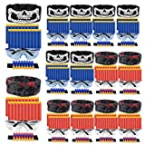 POKONBOY Compatible with Nerf Party Supplies Party Favors for Boys - 16 Sets Gun Accessories Compatible with Nerf Guns Birthday Party Favors with Face Mask, Refill Darts, Tactical Glasses, Wrist Bands