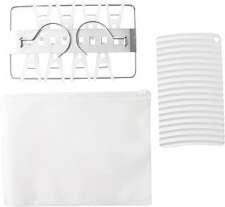 MOMA MUJI Travel Laundry Set, Small Angle Hanger, Palm sized Washing Board Original Set