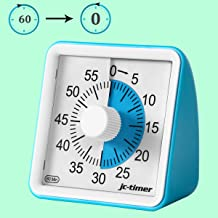 IVETTO 60 Minute No Noise Countdown Visual Analog Timer, Time Management Tool for Kids and Adults - Blue