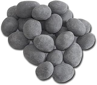 24 piezas de piedras cerámicas, gel gris chimenea bioetanol quemador decoración planta tazón mesa decoración