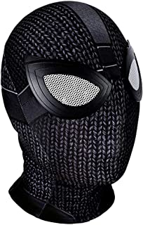 Black Spider Stealth Suit Cosplay Mask Far from Home Zipper Lycra Elastic Soft Breathable Full Head Hood Props Halloween