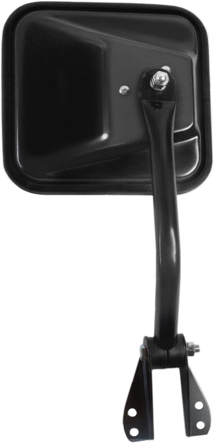 Black Manual Foldaway Fit System Driver Side Mirror for Jeep CJ
