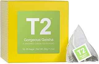 T2 Tea Gorgeous Geisha Green Tea Bags in Box, 25-Count