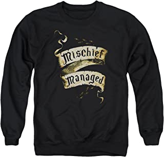 Harry Potter Mischief Managed Unisex Adult Crewneck Sweatshirt for Men and Women