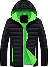 Men's Lightweight Packable Water-Resistant Puffer Down Jacket with Hood Winter Coats(Not for Big Man)