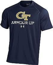 Gear for Sports Georgia Tech Yellow Jackets Blue Poly Dry Under Armour HeatGear NuTech Short Sleeve Shirt