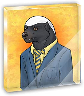 Portrait of a Honey Badger Acrylic Office Mini Desk Plaque Ornament Paperweight