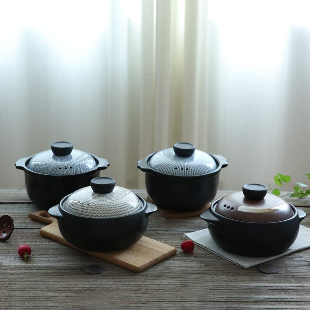 ZTMN Unterglasur Farbe Vintage Auflauf Hochtemperatur Keramik Suppentopf Steintopf Auflauf 2,5 Liter-Farbe B. F