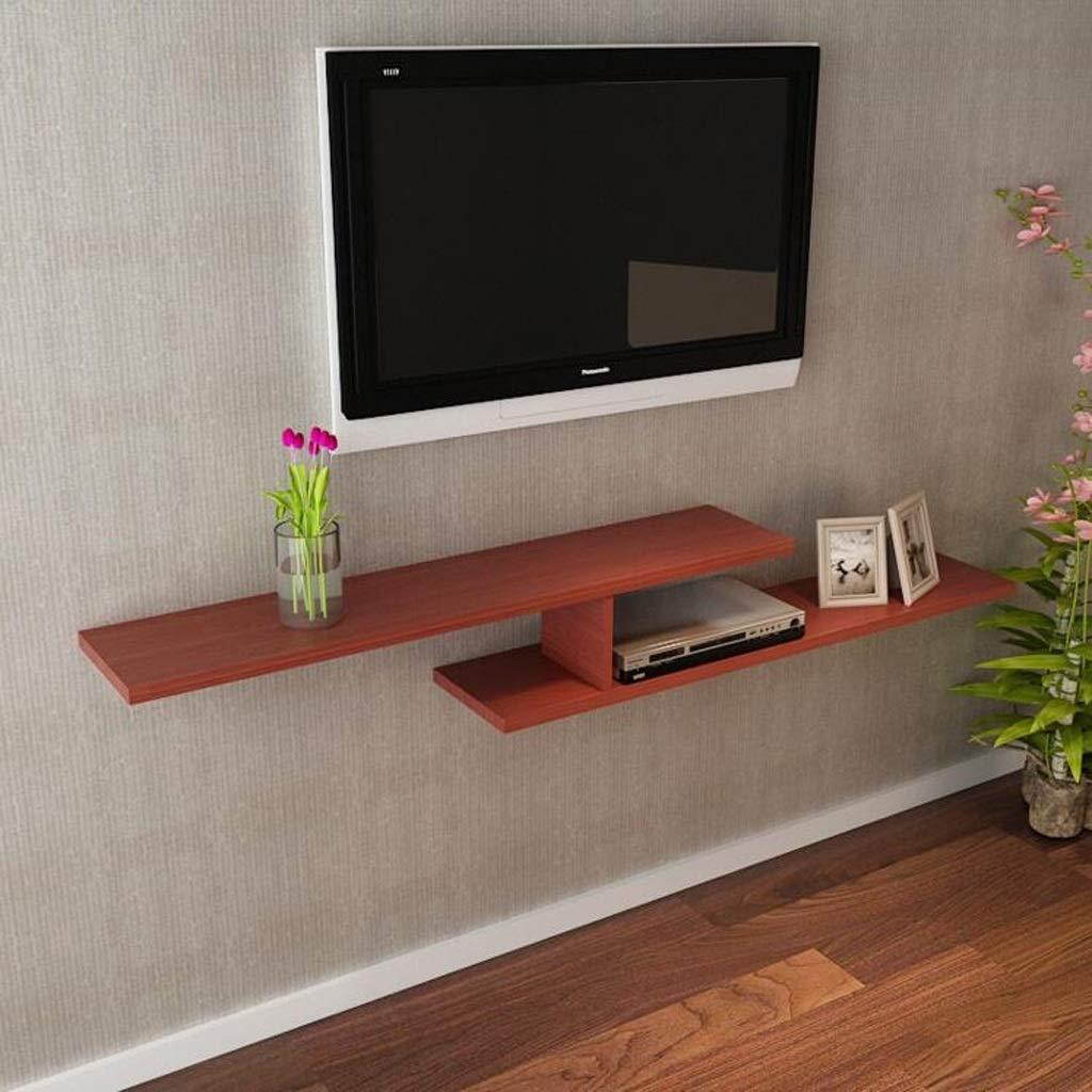 Estante flotante para montar en la pared, consola de TV, estantes, gabinete, consola de juegos, estantería para cajas de cables, routers, mandos a distancia, reproductores de DVD: Amazon.es: Hogar