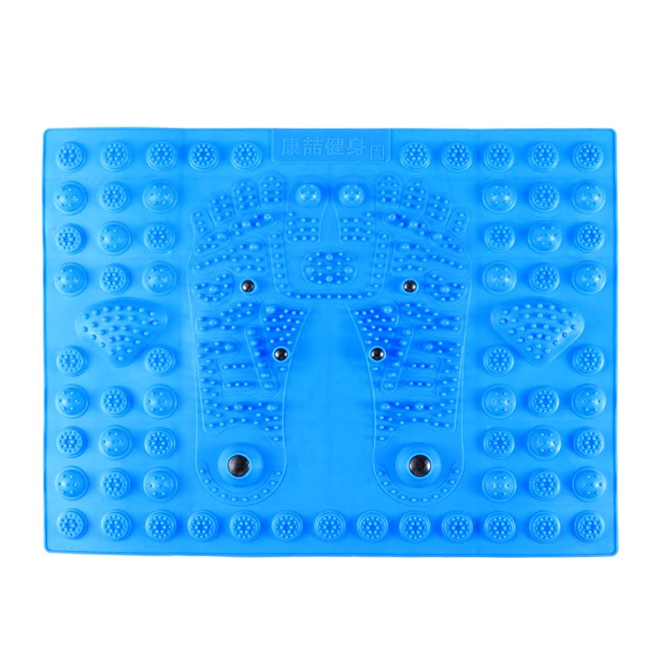ロースト受け入れる講師Healifty 指圧フットマットフット磁気療法マッサージャーガーデンマッサージパッド(ブルー)