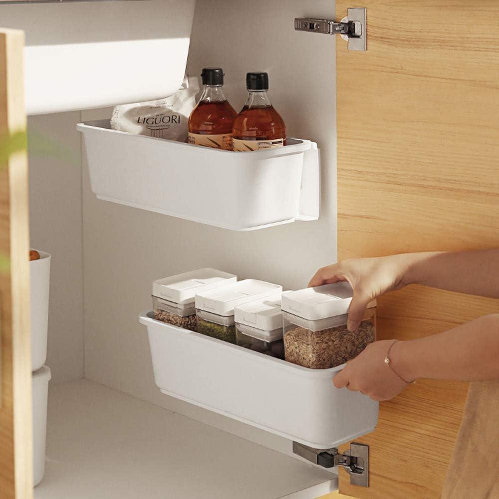 Amazon Com Baffect 2 Pcs Under Sink Organizers Pull Out Cabinet Organizer Slide Out Plastic Storage Drawers Sliding Basket For Kitchen Bathroom Undersink White Everything Else