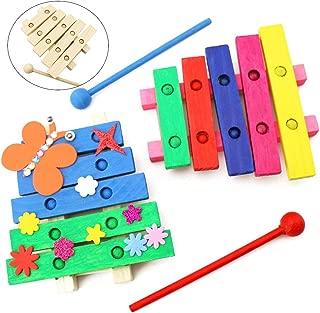 Coxeer 2PCS Kids Xylophone Toy DIY Musical Instrument Percussion Instrument Musical Toy for Kids Brithday Gift