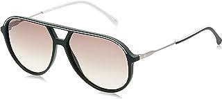 نظارة شمسية افياتور للرجال من لاكوست بتصميم لا ستاريبس اند بايبينغ بلون اخضر غير لامع