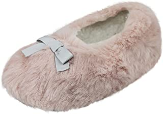 Clobeau 女童拖鞋幼儿卧室屋靴拖鞋及踝短靴