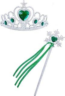HenzWorld Princess Dress Up Jewelry Accessories Gloves تقدم للأطفال البنات لحفلات الهالوين من عمر 1-12 عامًا