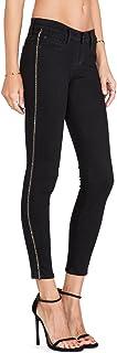 Hudson Jeans Women's Luna Super Skinny Crop Jeans Chain Detail (26 Black)