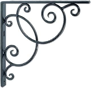 Achla Designs Wrought Iron Decorative Scroll Shelf Brackets, Pair