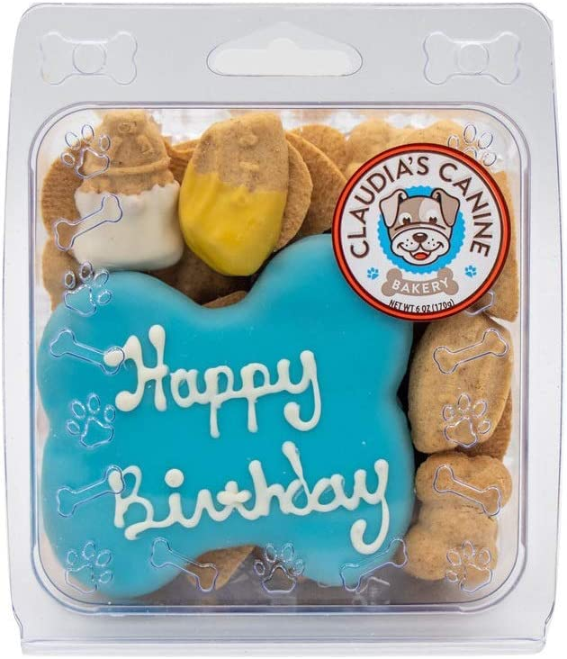 Claudia's Canine Bakery Blue Happy Ranking Mail order TOP10 Birthday Clamshell Cookie Dog