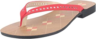 Chips Women's 95B3 Red Fashion Slippers