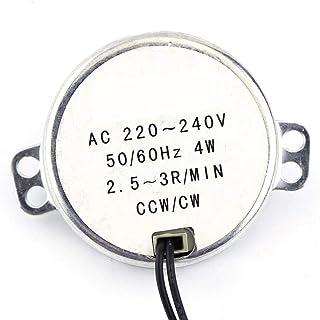 Motor síncrono, 1pc 220-240V CA 4W CW/CCW 4W 50 / 60Hz Motor engranado síncrono para mecanismo de ventilación de ventilador eléctrico, calentador(2.5-3RPM)