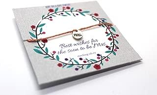Gift for Bride - Cord Bracelet - Mrs. Bracelet - Bachelorette Gift - Wedding Bracelet Coral Cord Size M/L (6.75-7.5 inches)