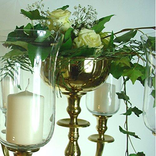 Dekowelten Blumenschale Silber/Gold/Weissfarbend 16cm Durchm. für Kerzenleuchter Kerzenständer Wedding Ohne Blumen (Gold farbend)